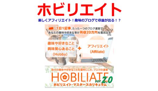 ホビリエイトで楽しくアフィリエイト!趣味のブログで収益が出る!?【購入特典あり!】